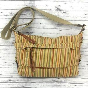 FOSSIL-Striped Fabric Crossbody Handbag